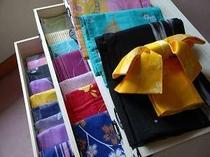 33. 一部のプランに特典として付く選べるおしゃれ色浴衣の一例