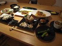 ある日のご夕食  宿主は北海道フードマイスター