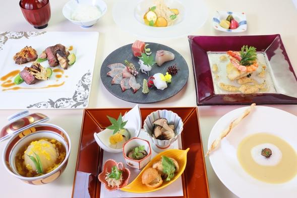 ★最上級コース★那須のフレンチと日本料理の職人が作り上げる特薦和洋折衷コース ワンドリンク付