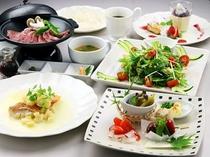 夕食アップグレードプラン牛陶板の一例