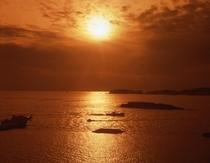 夕陽に癒される