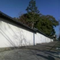 伊賀の細道◆崇廣堂の白壁 古の小道を散歩♪当ホテルより600m