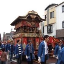 国指定重要無形民俗文化財「上野天神祭」のだんじり