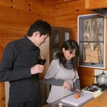 【キッチン付きコテージ】キッチン風景一例