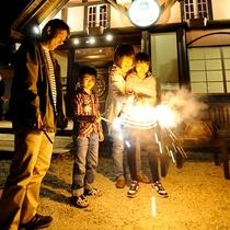 【夏季限定】専用の広場で花火が楽しめます^^*