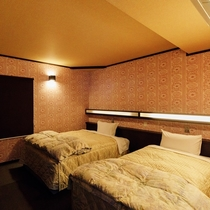【トップグレード】コテージのベッドルーム一例