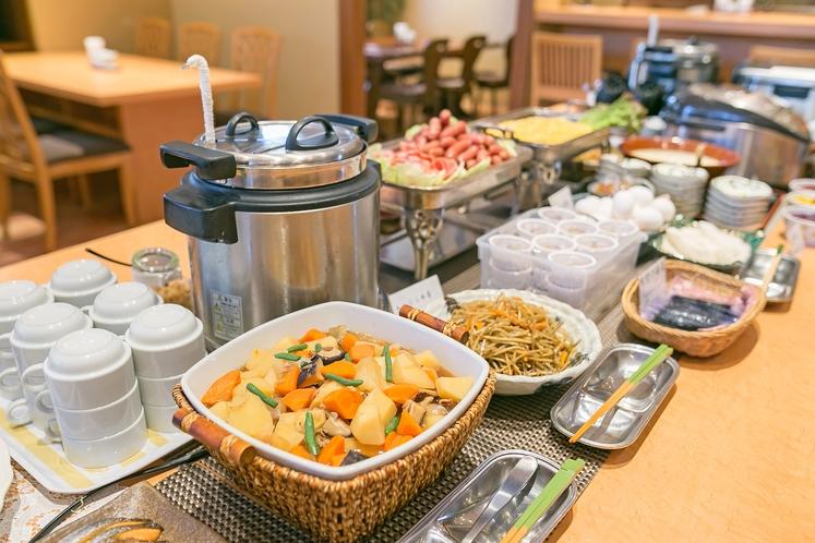 優しいおふくろの味が好評の朝食ブッフェ