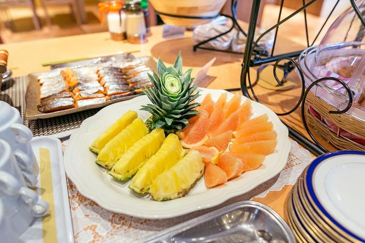 朝食ブッフェ フルーツメニュー一例