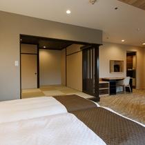 和室の障子を閉めれば、独立したお部屋としても利用可能!