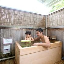 温泉露天風呂付きコテージでパパと思いっきり遊ぼう!