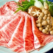 お部屋食ケータリング:すき焼き黒毛和牛ロース@グレードアッププラン
