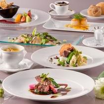 1ランクアップ:相模湾の新鮮魚介と稀少伊豆牛をシェフお薦めの調理法でお楽しみいただけるコースです。