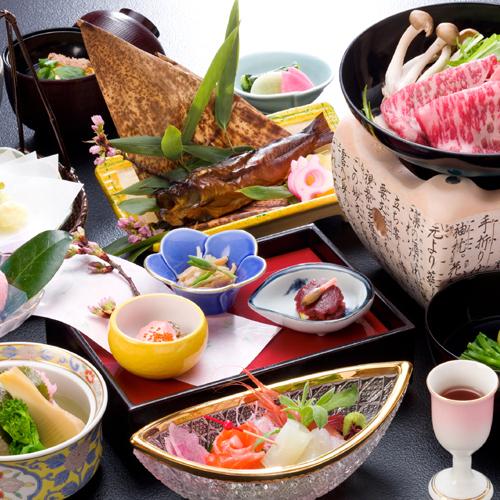 日本料理「女神会席」一例