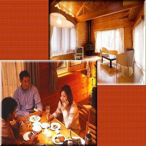 別荘食事風景