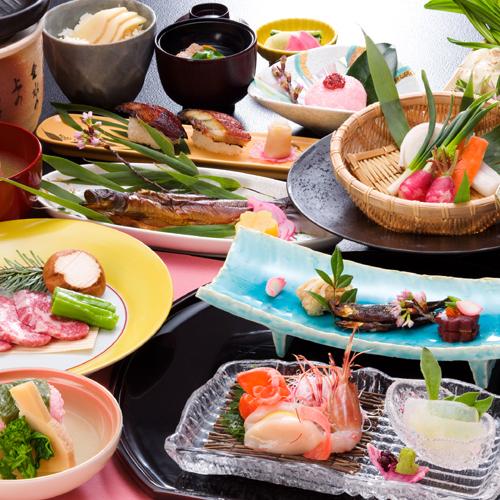 日本料理「白樺会席」一例