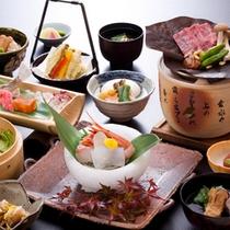 """日本料理""""白樺会席""""一例"""