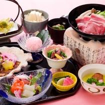 日本料理「すずらん会席」一例