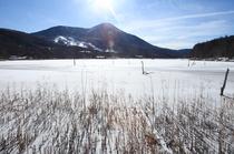 女神湖完全結氷