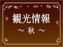【観光情報~秋~】