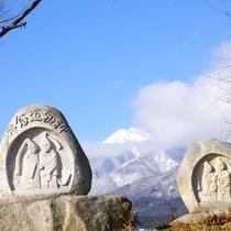 【道祖神】冬の道祖神は旅情を誘います。