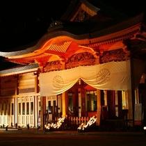 【穂高神社 神竹灯】毎年12月に開催される幻想的な光の祭典