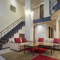 お部屋の中に階段が組みこまた2階層のお部屋です。