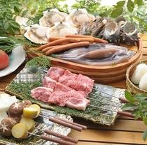 ■お部屋でお食事♪ケータリング例■ BBQ黒毛和牛と日本海の幸