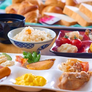 【朝食のみ】朝食バイキングで人気の釜めしを、お得な朝食付きプラン