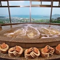 温泉 猿人の湯 源泉かけ流し展望風呂