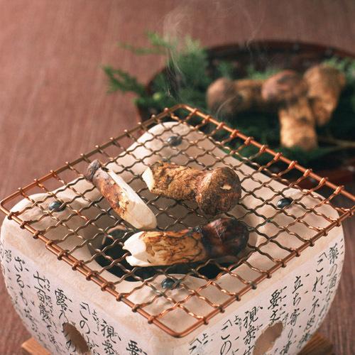 *松茸の炭火焼き