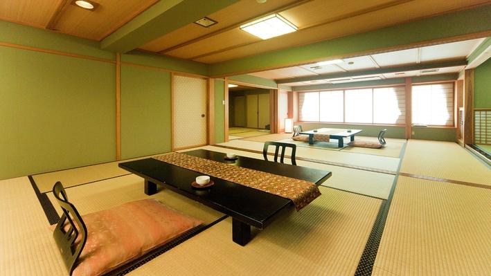 二間続きの檜風呂付客室【すみれ(2)】禁煙室