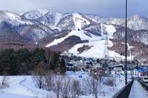 北の峰エリアの冬景色