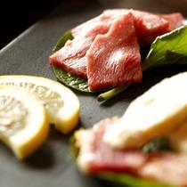【料理】季節の懐石 和牛石焼