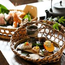【料理】季節の懐石 前菜とお造り