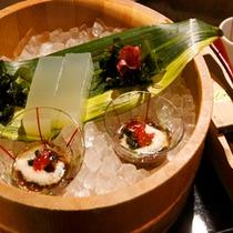 【季節の懐石料理 一例 伊豆の心太】