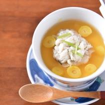 *お夕食一例(合肴)/絶品!鱧のあんかけ茶碗蒸し。
