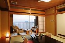 303号室より竹生島