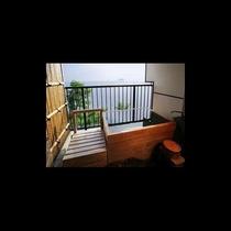 303客室の露天風呂からの眺め