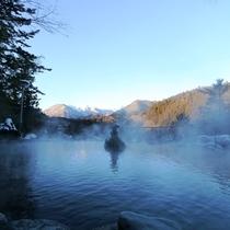 野天風呂(冬)