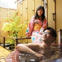 貸切露天風呂は当日でも空いていればご利用いただけます。