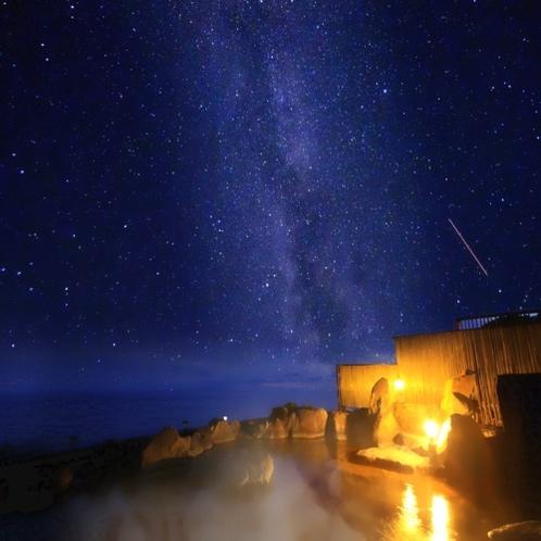 星空の露天風呂