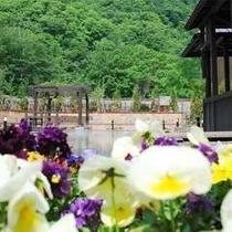 花の露天風呂