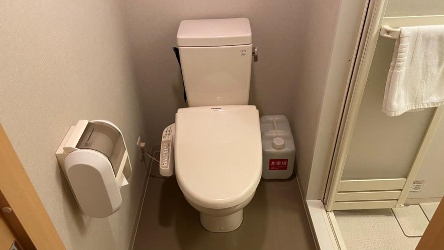トイレ(エコノミーシングルルーム、ダブルルーム、和風シングルルームのみ)