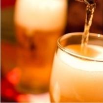 生ビールで乾杯!!