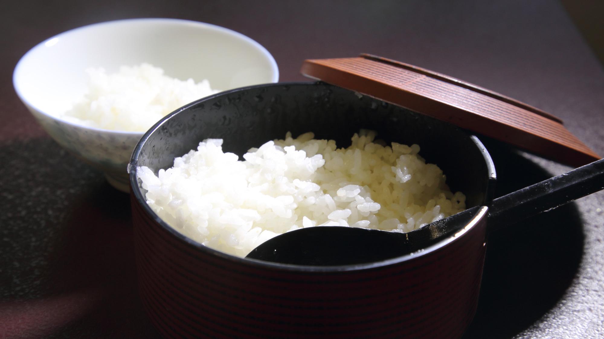 *ご朝食:つやのある信州産のお米をお腹いっぱいお召しあがりください