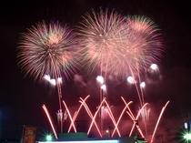 パンション弁慶から八戸花火大会を観る
