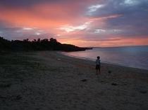 【周辺】長浜ビーチの夕焼け