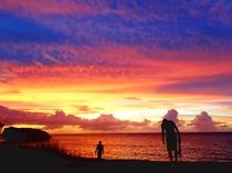 【周辺】とても綺麗で幻想的な夕日ですね♪