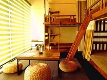 【4人部屋(2段ベッド×2)】いつも部屋に居たくなるような居心地よい空間