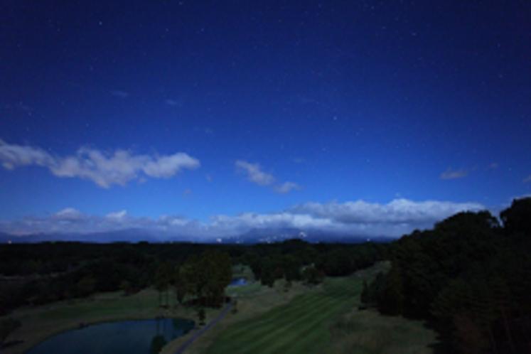 ホテルベランダから見た星空